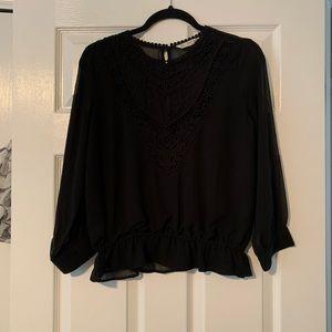 Black Zara Blouse